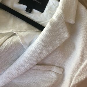 White textured blazer